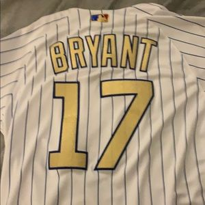 Majestic Authentic Kris Bryant Cubs Gold Jersey